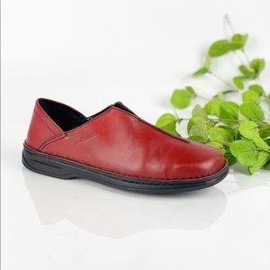 Josef Seibel Red Loafer Comfort Slip On Flat